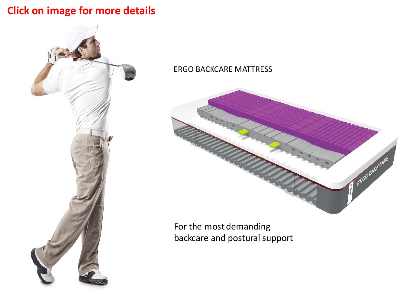 Swissaire True Ergonomics - ergo backcare mattress