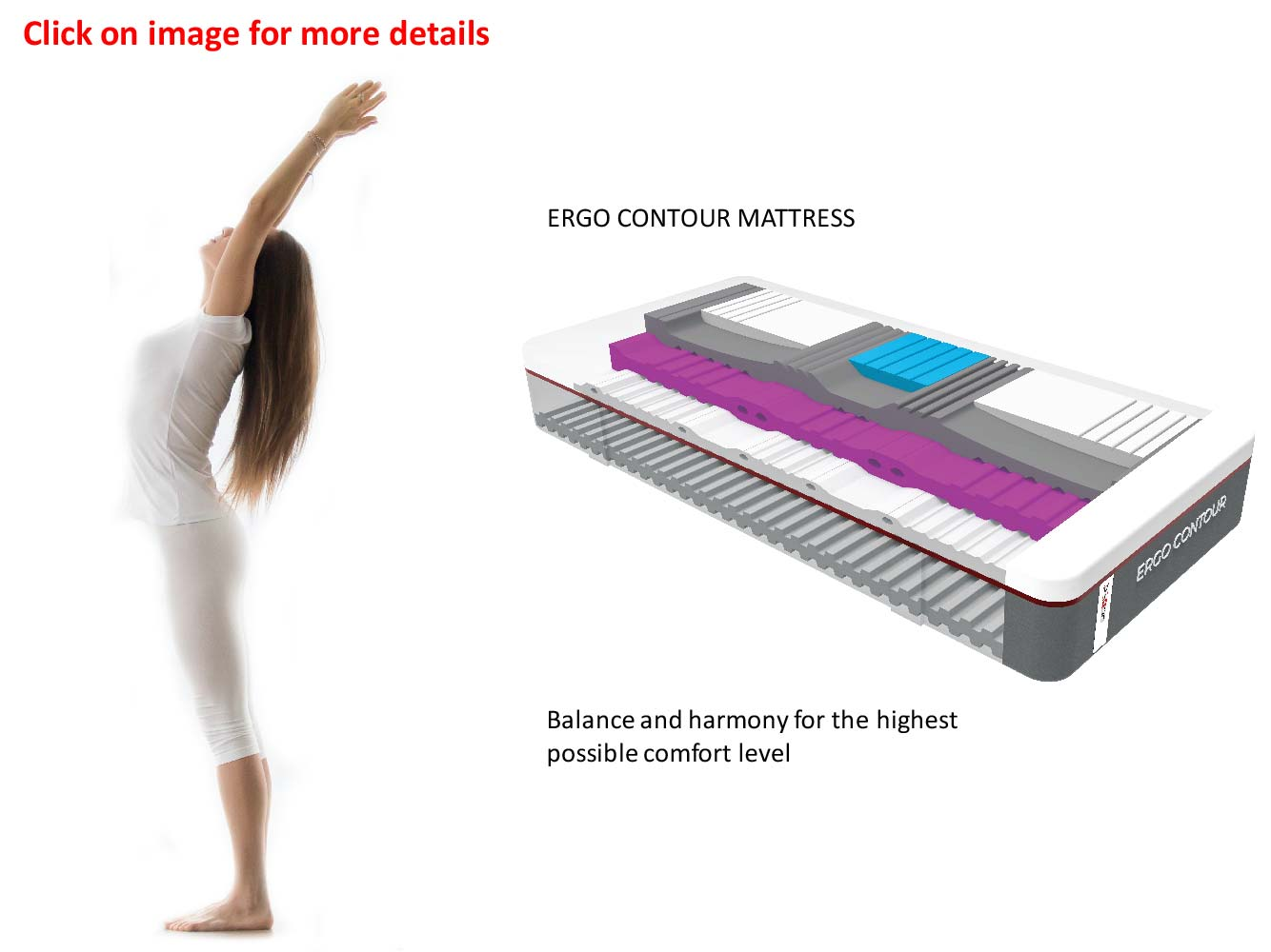 Swissaire True Ergonomics - Ergo Contour Mattress